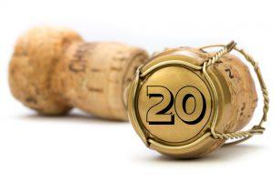 Champagnerkorken Jubiläum 20 Jahre