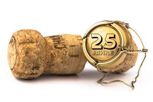 Champagnerkorken 25 Jahre Jubiläum