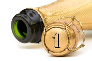Champagner Jubiläum 1 Jahr