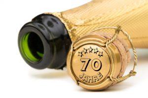 Champagner 70 Jahre Jubiläum